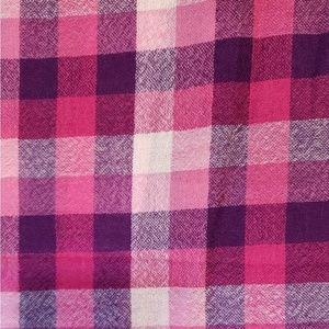 "Pink & Purple, 100% Wool Scarf/Shawl 39"" x 47"""